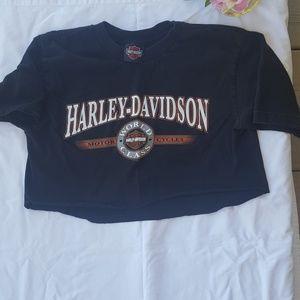 Cropped Harley Davidson Shirt